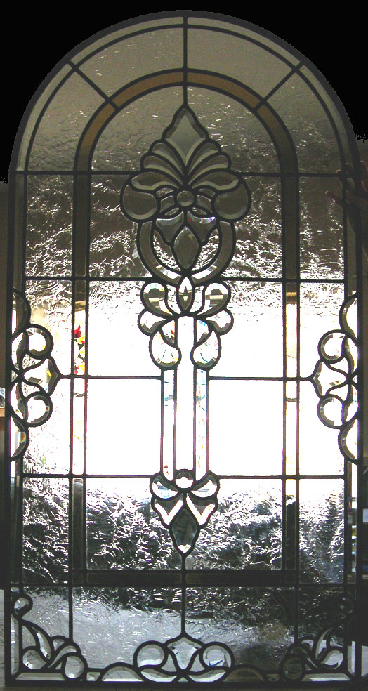 Beveled Glass Entry Window
