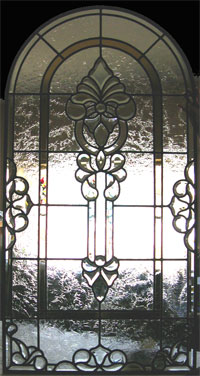 Beveled Glass Entryway