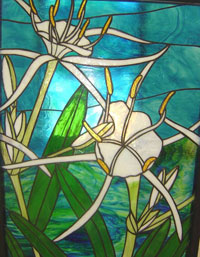 Cahaba Lily Stained Glass Window