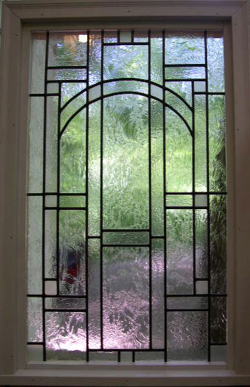 Clear Mission Style Leaded Glass Window