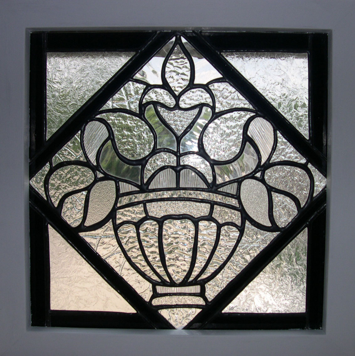 Floral Design Leaded Glass