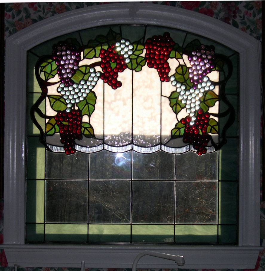 Grapevine Stained Glass Window