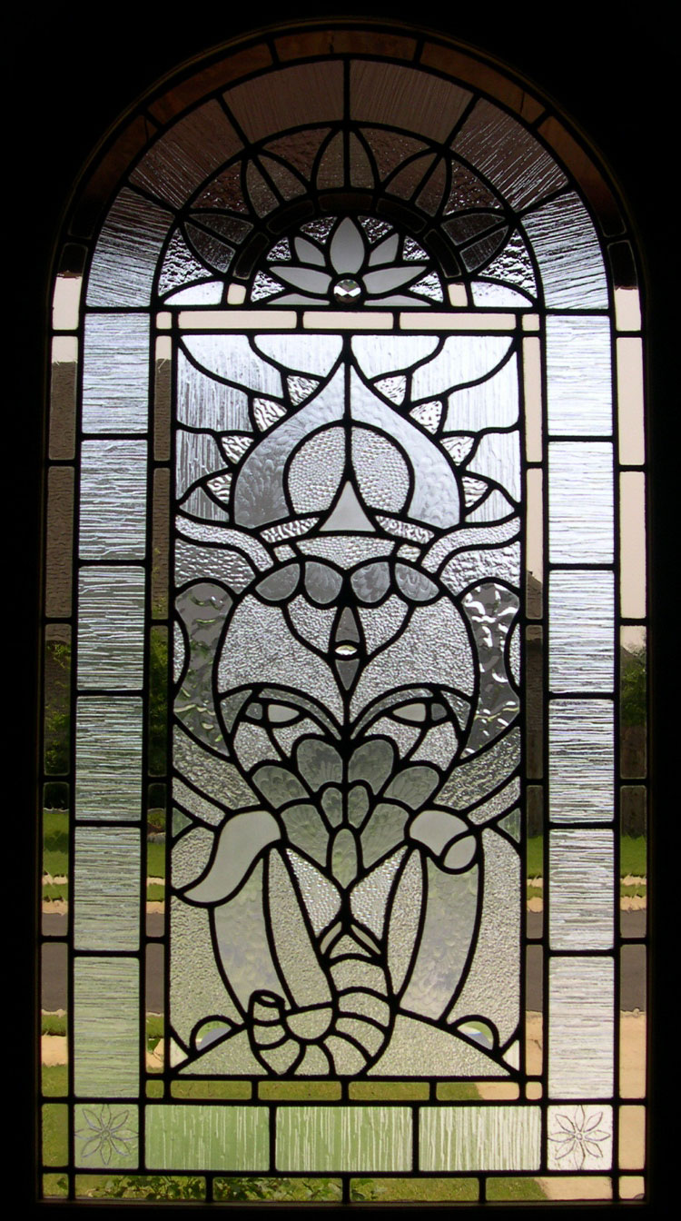 Ganesh Leaded Glass Window