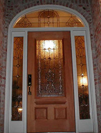 Leaded Glass Entryway