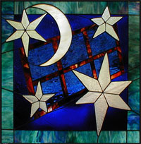 Starry Night Stained Glass