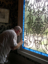 Griffin leaded glass