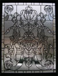 Griffins leaded glass