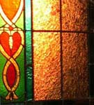 Stained                   Glass in Sunset