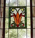 Stained Glass Tulip Art Deco